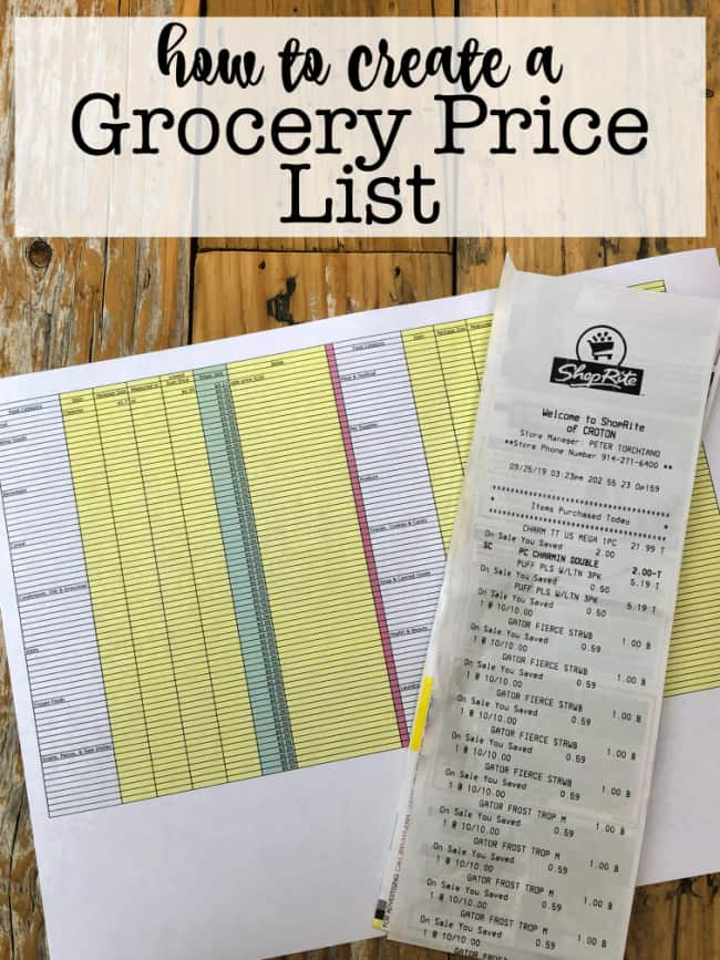 Did you know that you can save 30-40% on your monthly grocery bill just by changing the way that you shop? The first step is to get a handle on what you are paying for each item- which you can do with this free printable grocery price list!