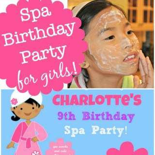 "Fantastic ideas for hosting a Spa birthday party at home! This post includes free printable Spa birthday party invites and thank you notes, ideas for kids ""spa treatments"" and lots of ideas to make your Spa Birthday Party awesome!"