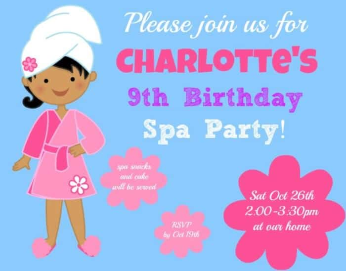 Great 9 year old girl 39 s birthday party idea a spa for Crafts for 10 year old birthday party