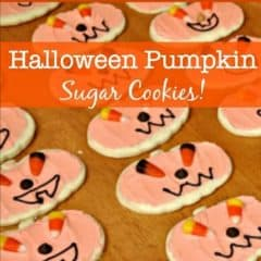 Halloween Pumpkin Sugar Cookies!
