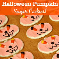 Made from the most delicious sugar cookie ever- these Adorable Halloween Pumpkin Cookies will have your family begging for more!