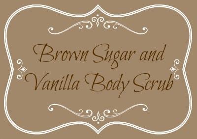 Brown Sugar and Vanilla Body Scrub Label