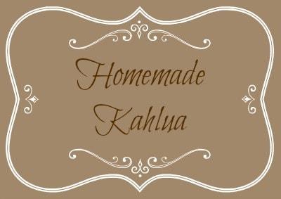 Homemade Kahlua Label