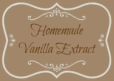 Homemade Vanilla Extract Label