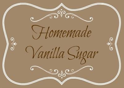 Homemade Vanilla Sugar Label