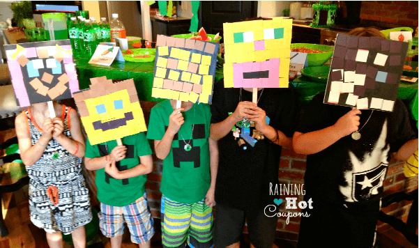 DIY minecraft masks