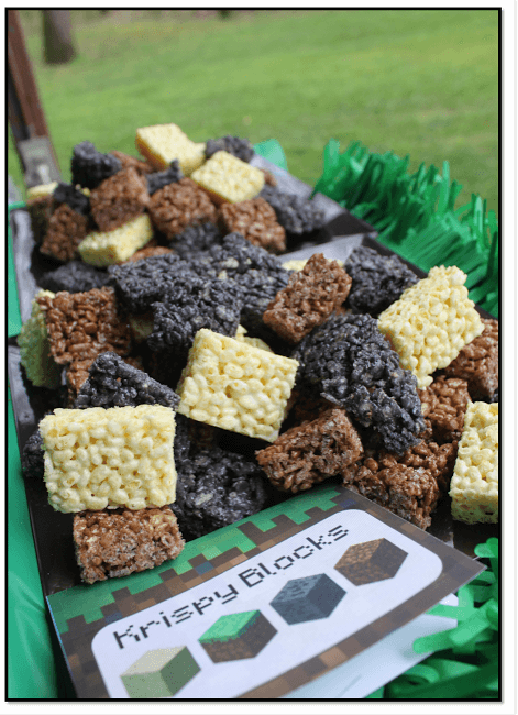 Minecraft party food