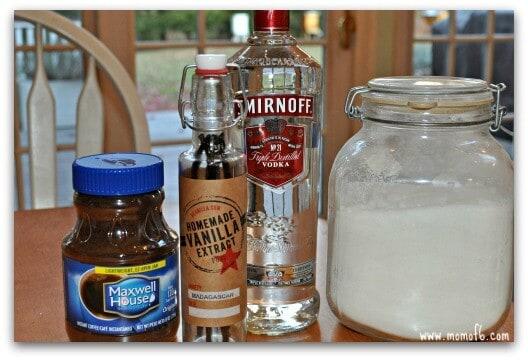 homemade kahlua ingredients1