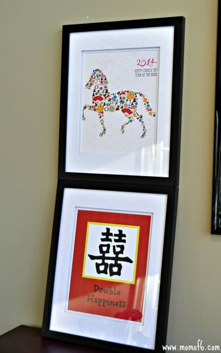 Chinese New Year Decorations- double happiness and horse