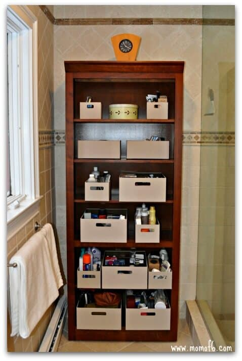 master bathroom storage ideas that worked for us!
