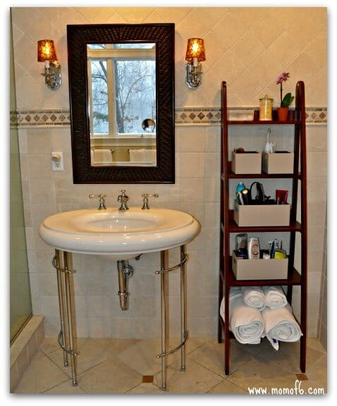 master bathroom storage