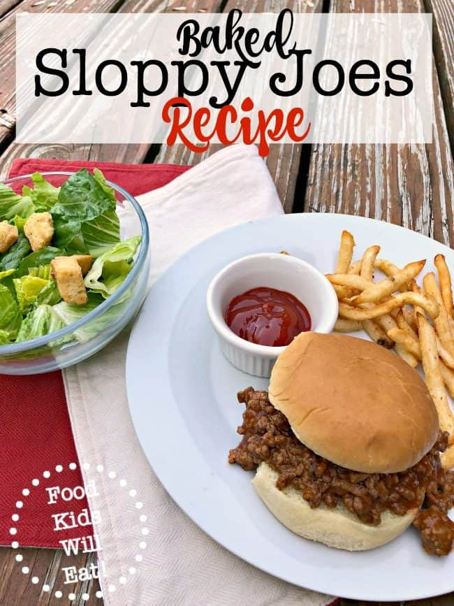I think that every busy Mom should have a Sloppy Joes recipe in her arsenal of family dinners to make during the week. I love this Baked Sloppy Joes recipe that you can make ahead and then bake right before dinner!