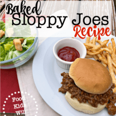 Baked Sloppy Joes Recipe