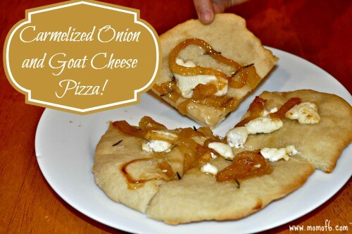 Caramelized Onion and Goat Cheese Pizza {Menu Plan Monday ...