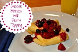 Cheese Blintzes with Berry Topping {Menu Plan Monday}