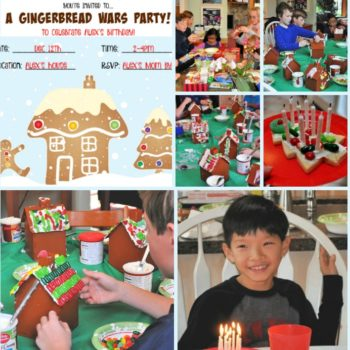 Great 8 Year Birthday Party Idea: Gingerbread Wars Party!