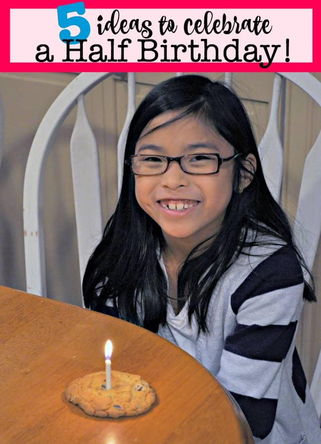 """Don't you remember how excited you used to be back as a kid when you were finally able to say, """"I'm five and a HALF!""""? Reaching the point where you can add """"half"""" to the end of your age always felt like a milestone- so why not celebrate it as such? Here are 5 ideas to celebrate your child's half birthday!"""