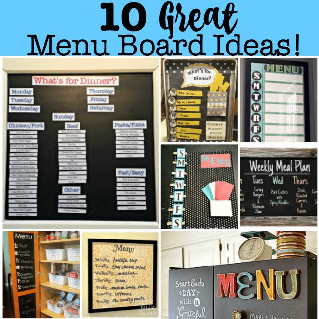 10 Great Menu Board Ideas! - MomOf6
