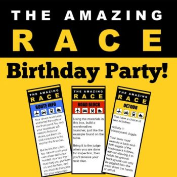 Great 11 Year Old Party Idea: The Amazing Race Birthday Party!