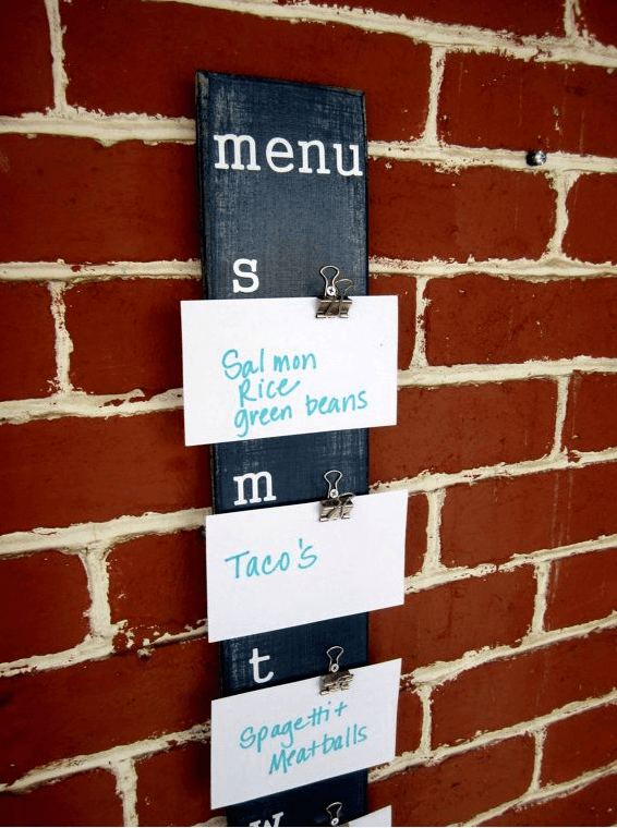index card menu board