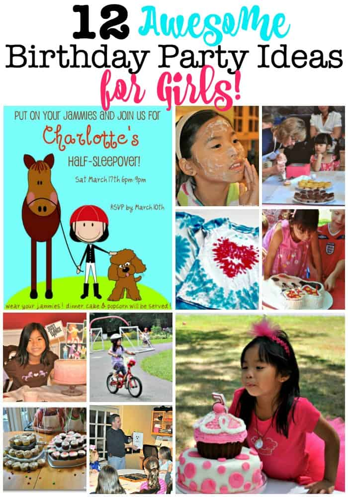 These 12 Awesome Birthday Party Ideas for Girls are perfect for your little princess! Home birthday parties are meant to be homemade, simple, and fun for you as well as for your child. These posts include free printable invitations, thank you cards, birthday cake and food ideas, and all kinds of birthday games, crafts, and activities!