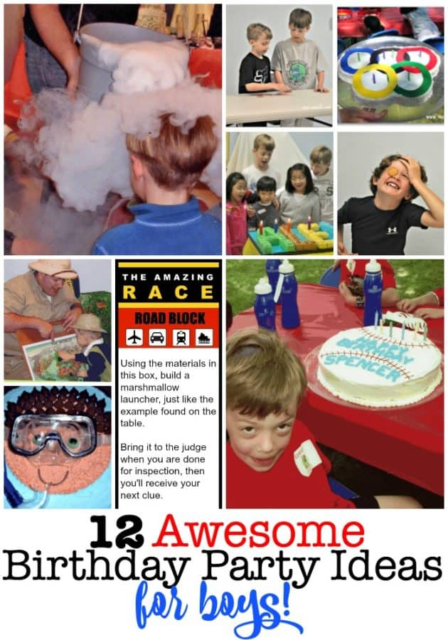 I love creating magical days of fun for my kids and their friends that are easy to pull together, don't cost a lot of money, and create the kind of memories that my kids will look back on fondly on when they are all grown up with kids of their own. So if you are looking for a fun at-home birthday party- here are 12 Awesome Birthday Party Ideas for Boys!