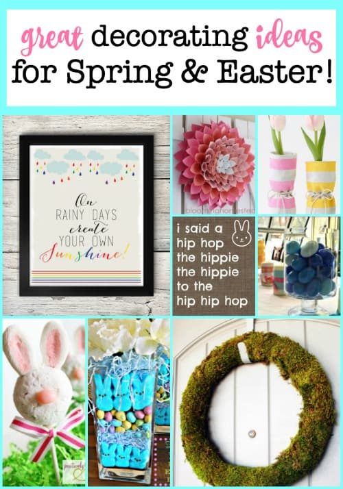 While we wait for Spring to arrive outside, let's make it feel a little more Spring-like inside! Here are a few fun and easy ideas to decorate for spring!