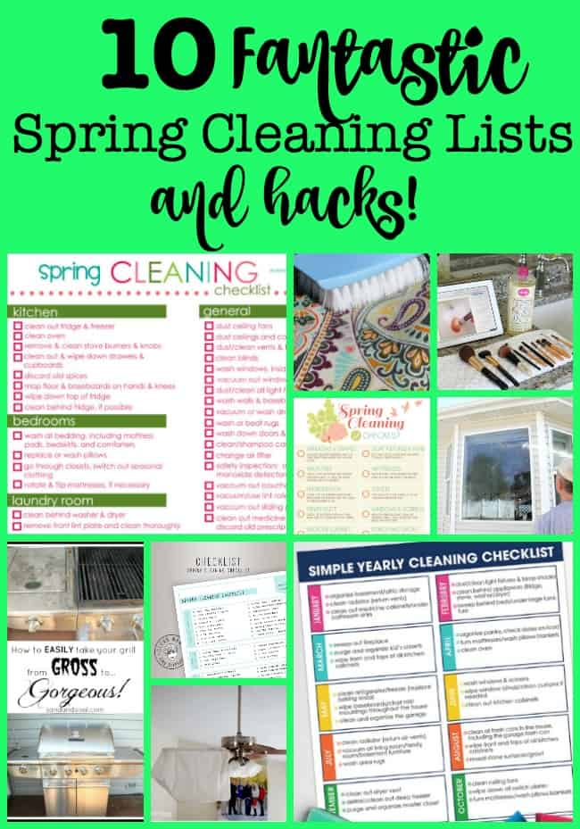 When the weather warms up, you just want to open the windows and let in the fresh air- which somehow leads to cleaning the windows and screens- and before you know it- you're motivated to tackle some spring cleaning! Here are some great spring cleaning lists and hacks for you to use!