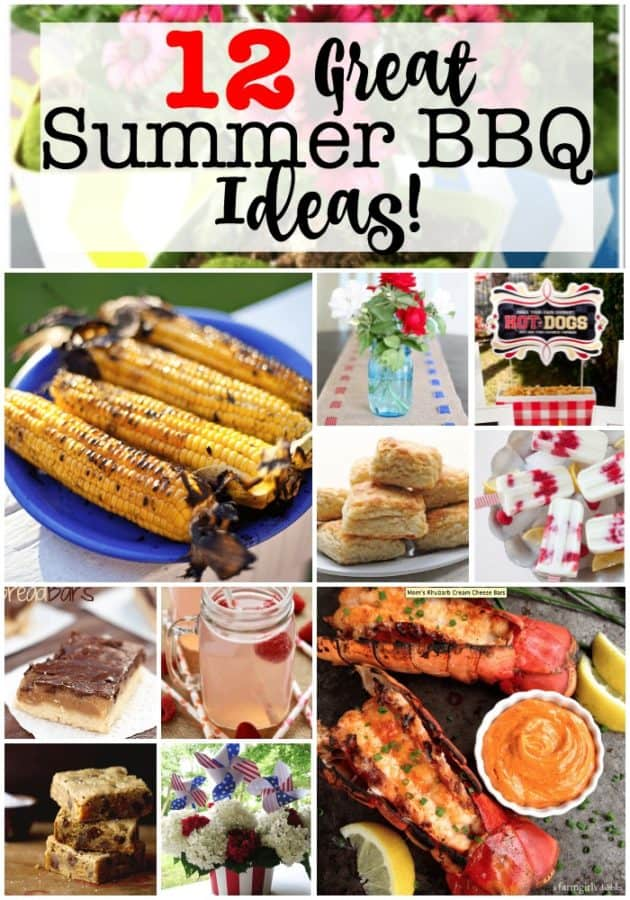 It's time for the summer BBQ season- and I for one cannot wait! Bring on the steaks and seafood! Bring on the fruity summer drinks and ice cream! Bring on checkered tablecloths and citronella candles and don't forget the s'mores! Here are 12 great summer BBQ ideas to get us started!