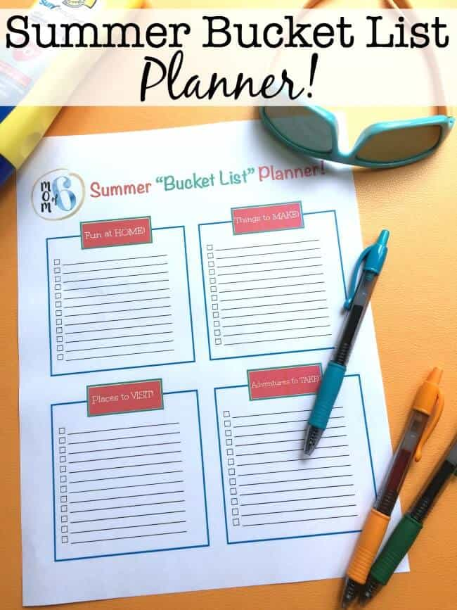 To make sure that my family gets to do the things that are important to them this summer, we create a family summer bucket list. This free printable planner helps you to make a list of places to visit, things to make (like crafts & recipes), fun things to do at home, and even a list of bigger adventures you would like to take.