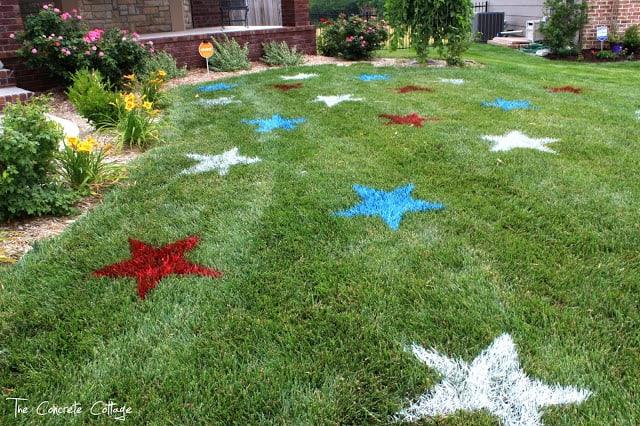 July 4th lawn stars