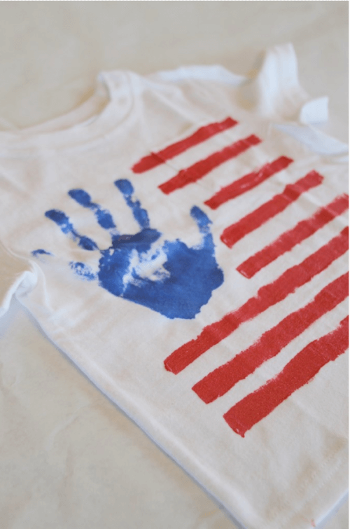July 4th Handprint shirt