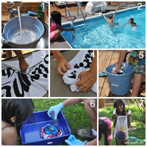how to tie dye beach towels step by step