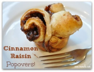 Cinnamon Raisin Popovers (An Awesome After School Snack!)
