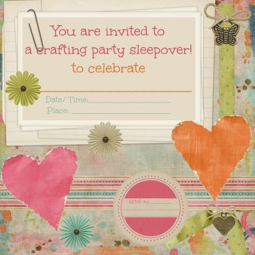printable craft party invitation