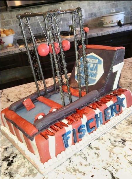 ninja warrior birthday cake idea