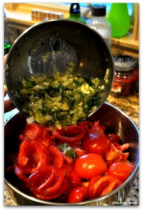 Roasted Tomato Sauce- mix in