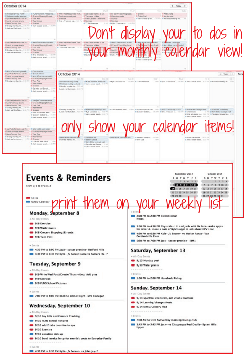 Sure you can keep your to do list on a piece of paper or even use an app, but I think that putting your to do list in your calendar is the best way to keep everything organized and in one place!