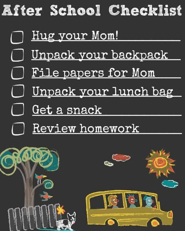 "When the kids come home from school with their backpacks overflowing with paperwork- it's great if there is a ""landing pad"" for them to unload it all, and a way to keep all of their supplies organized. Here's how I created an organized homework space in the kitchen for my large family!"