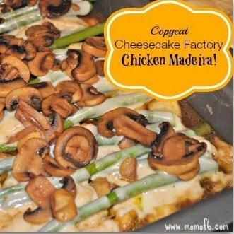 Copycat Cheesecake Factory Chicken Madeira