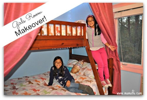Girls Room Makeover- Girls on Bunk