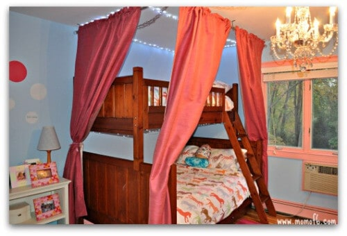 Girls Room Makeover- bunk and curtains