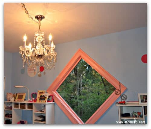 Girls Room Makeover- chandelier