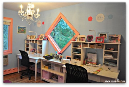 Girls Room Makeover-desks