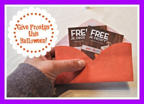 A Great Trick or Treat Alternative: Wendy\'s® Jr. Frosty™ Coupons!