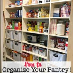 How to Organize Your Pantry / Our Pantry Makeover!