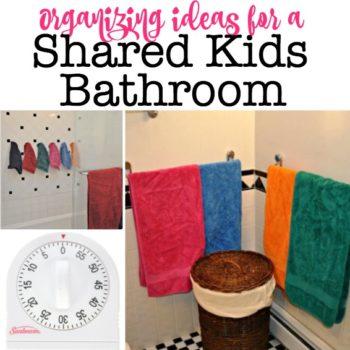 Organizing Ideas for a Kids Shared Bathroom!