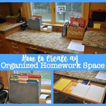 How to Create an Organized Homework Space {with free printable after school checklist}