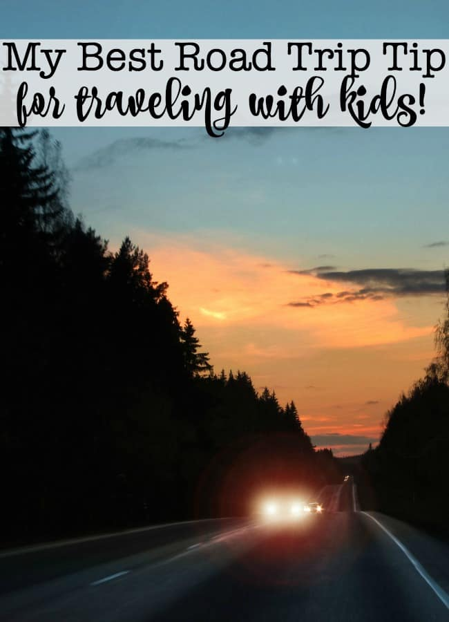 We take lots of family road trips- but of all of the things that I do to prep our car and ourselves for travel- the #1 road trip tip that I follow on EVERY trip we take- is to leave early in the morning!