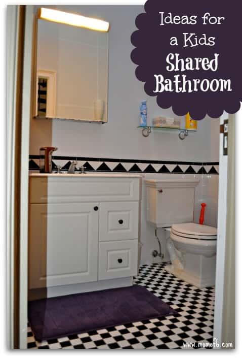 Tips for a shared bathroom momof6 for Shared bathroom ideas